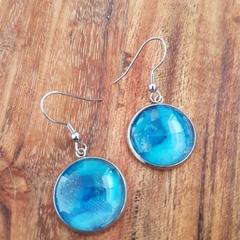 Ocean blue earrings
