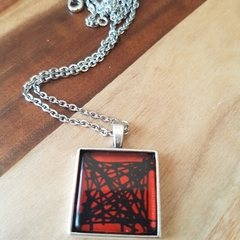 Abstract red pendant