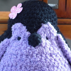 Poppy the hand crochet toy penguin by CuddleCorner:christmas, OOAK, christmas