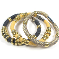Florence Collection - Set of Three recycled fabric bracelets
