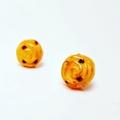 Escargot scrolls polymer clay stud earrings - Pain Au Raisin ou Escargot Studs
