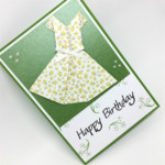 Birthday Card - Female, Origami Dress