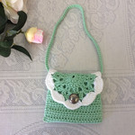 Cute  crocheted bag, little girls bag,handmade, handbag,gift , crocheted purse.