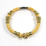 Florence Collection - Mustard recycled fabric bracelet