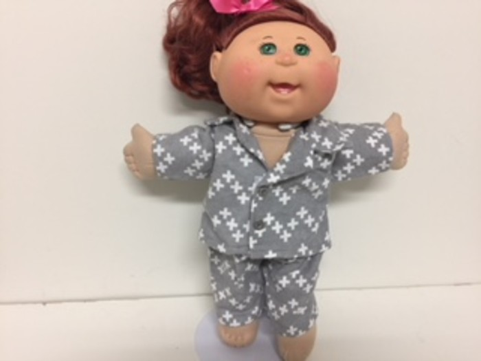 Dolls Pajamas with Matching Dressing Gown to fit Cabbage Patch and ...