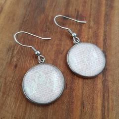 Pink blush earrings - Ankalia Purrmaids wrap scrap