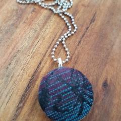 Covered flower pendant - Moondani Virium Jewel wrap scrap