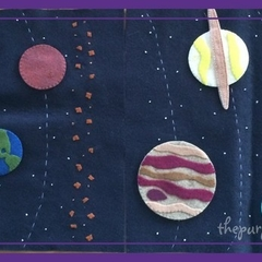 Solar System Quiet Book Page or Play Mat