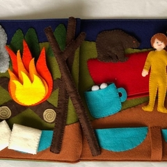 Camping Quiet Book Page or Activity Mat