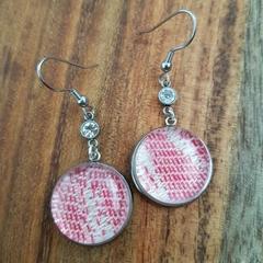 Pink jewel earrings