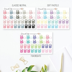 Fuel Tracker Planner Stickers - SML037