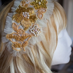 Katterina Embroidered & Beaded Hair Comb