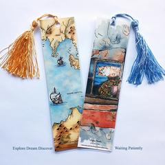 Tasseled Bookmarks | FREE SHIP in Australia | Watercolour Art