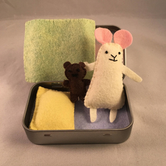 Tiny Tin Mouse - Pastel Colours