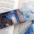 Cat in the Window Art Bookmark Quirky Art Great Gift Idea