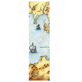 Set of 2 Art Bookmarks Old Map Cat Art Great Gift Idea