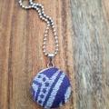Purple/silver pendant - Ankalia Foundation Dionysus wrap scrap