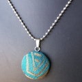 Teal & bronze pendant - Ankalia Foundation Links wrap scrap