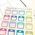 Scales Planner Stickers, Weight Loss Stickers - SML001