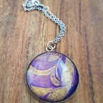 Purple / gold marble pendant