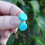 Stud earrings, everyday earrings, bright earrings, square studs, round earrings