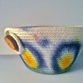 Small hand dyed rope basket