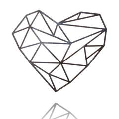 Faceted Heart Brooch