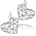 Faceted Heart Earrings