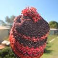 Unisex Crochet Beanie ~ Ski Beanie ~ Beanie with Pom Pom ~ Winter Beanie