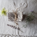 Hand knitted 100% Cotton face washer - Neutral mottled tones
