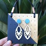 Dangle earrings, long earrings, drop earrings, boho wooden earrings, statement