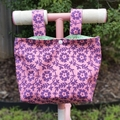 Handlebar Bag | Scooter Bag | Bike Bag | Flowers | Free Shipping