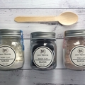 French Mineral Clay Masks - Black, Ivory, Pink.