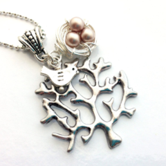 Bird Nest Necklace - Champagne
