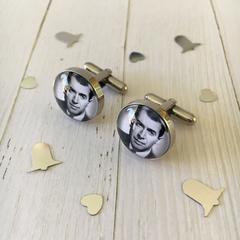 Stainless steel photo cufflinks, Custom photo cufflinks, Personalised photo cuff