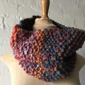 Outback - Hand Knitted Chunky Scarf, Neck Warmer
