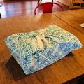 100% Cotton Wrap - Fish Print, 90cm x 90cm