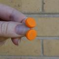 Stud earrings, statement earrings, orange earrings, Halloween earrings, bright
