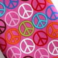 Padded Sunglasses Pouch in Pink Peace Fabric