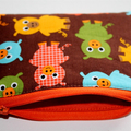 Small Coin Purse in Cute Piggy Fabric