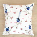 Splendid Blue Wren Cushion Cover 5 Birds