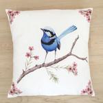 Splendid Blue Wren Cushion Cover Large Bird