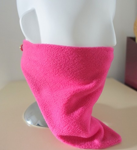 Neckerchief: cosy fleece, neckwarmer, walking, cycling, skiing, loop fastener