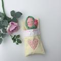 Baby doll and sleeping bag playset. Handmade, crocheted , toy, play, cute, bonne