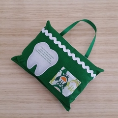 Green Frogs Tooth Fairy Pillow