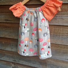 Mushroom Dress size 6-12 months