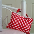 Tooth Fairy Pillow | Red & White Spots | Gift Boxed | Free Shipping