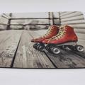 Mouse Pad - Retro Skates Design - Vintage Skates - Roller Derby gift