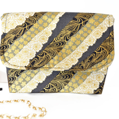 Gold clutch, make up pouch