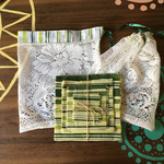 Matching 4 pack Beeswax wraps and produce bags